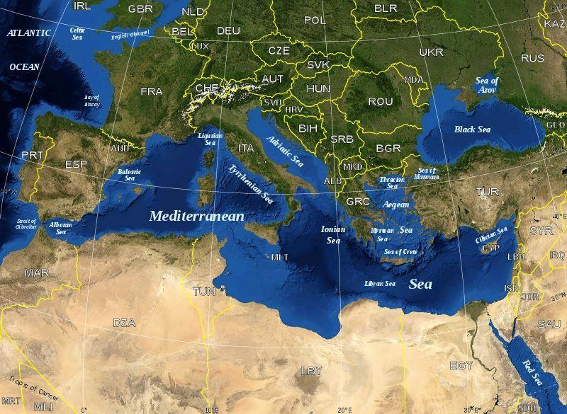 Mediterranean Port Call Maps