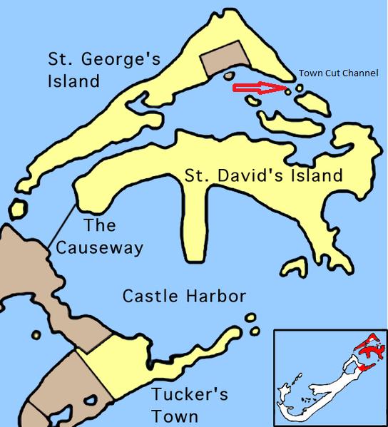 Saint George's Parish Bermuda Cruise Ship Port of Call Profile St. George's Map