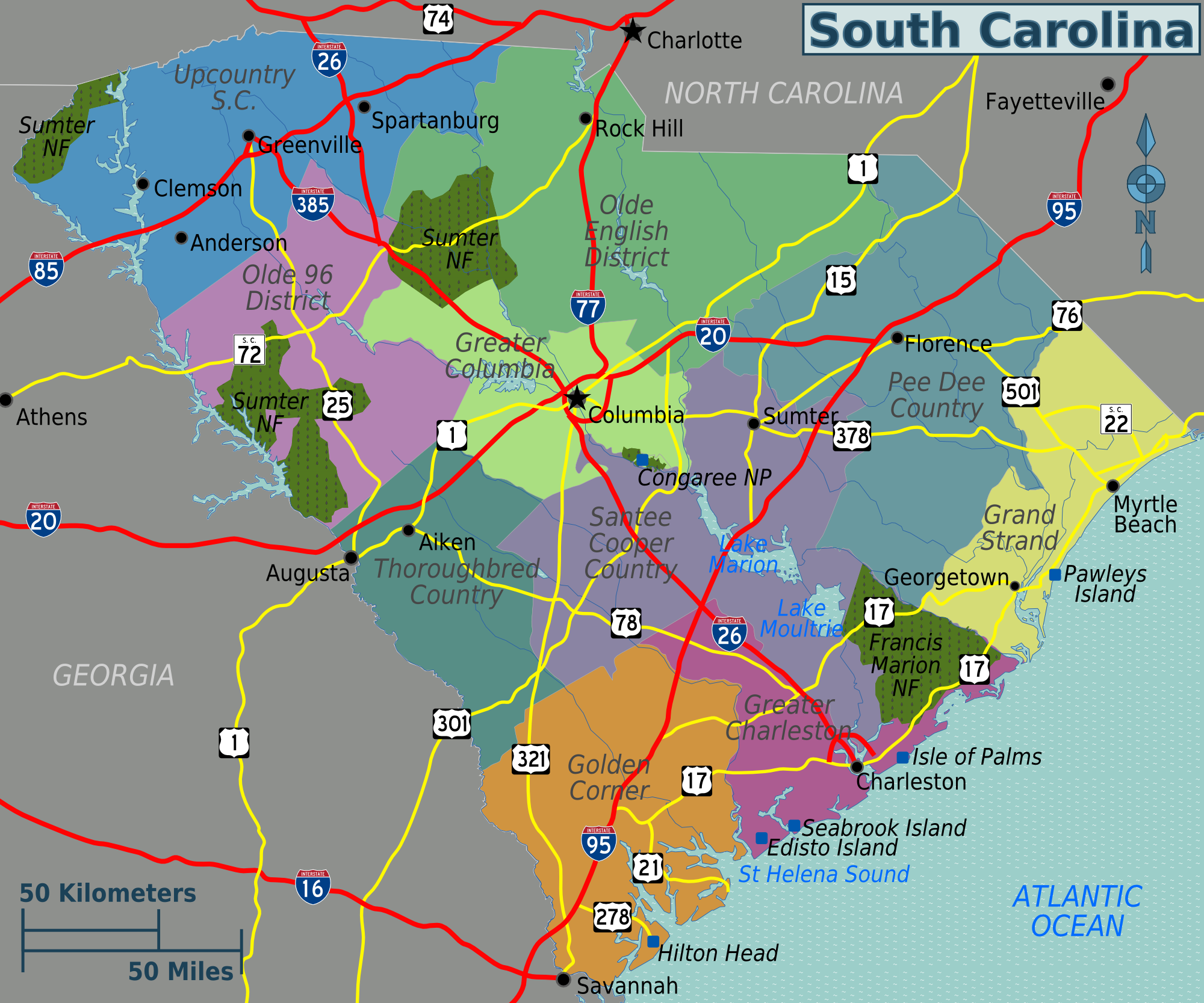 Map Of South Carolina Coast Submited Images  Pic2Fly