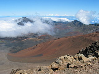 maui haleakala crater photo