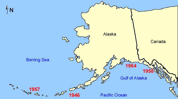 Natural Hazards In Alaska And US Pacific Coast - Alaska in us map
