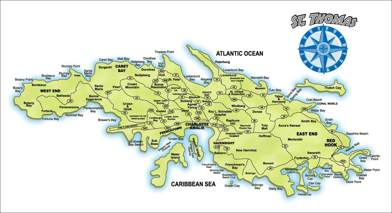 St Thomas Usvi Map