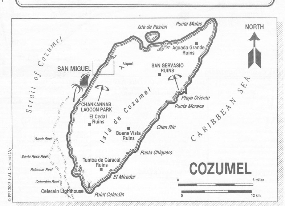 Cozumel Cruise Ship Port of Call Profile on map of playa del carmen, map of cancún, map of culiacan, map of belize, map of yaxchilan, map of mexico, map of grand cayman, map of the bay islands, map of jamaica, map of roatan, map of michoacán, map of yucatan, map of puerto rico, map of puerto vallarta, map of puerto aventuras, map of mayreau, map of costa maya, map of riviera maya, map of veracruz, map of bahia de banderas,