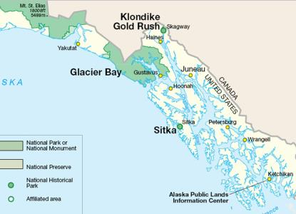 Map Of Alaska Highway System.Glacier Bay Alaska Cruise Ship Port Of Call Profile