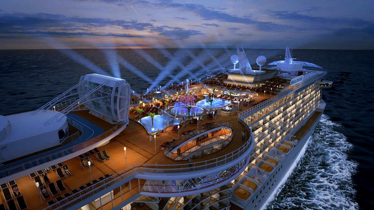 Royal princess cruise ship profile rendering of the upper deck on royal princess baanklon Gallery